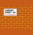 carnaby street wall vector image vector image