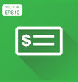 check money icon business concept banking vector image