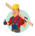 classic worker or carpenter civil vector image vector image