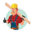 classic worker or carpenter civil vector image