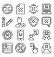 close icons set cross sign line style vector image vector image