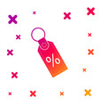 color discount percent tag icon isolated on white vector image vector image