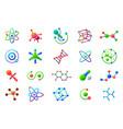 connected molecules structure molecule logo vector image