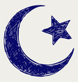 Crescent islamic symbol vector | Price: 1 Credit (USD $1)