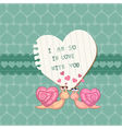 cute love card vector image vector image