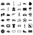 cycling tool icons set simple style vector image vector image