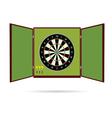 dartboard icon with arrow vector image