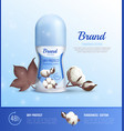 deodorant bottle realistic poster vector image