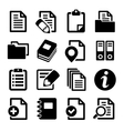 Documents and folders icons set vector image vector image