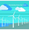 Electricity From Wind Design Flat vector image