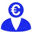 euro banker grunge icon vector image vector image