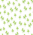 Floral pattern with abstract leaves vector image vector image