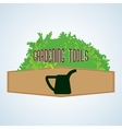 Gardening design tool concept natural icon vector image vector image