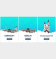 germany time to travel set of travel posters vector image vector image