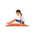girl doing brahmacharya asana beautiful woman vector image