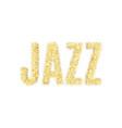 gold glitter inscription jazz golden vector image vector image