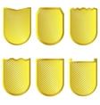 Golden signs set vector image vector image