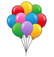 group of cartoon balloons 1 vector image vector image