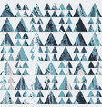 grunge triangle pattern vector image vector image
