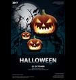 halloween poster template design vector image vector image