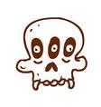 Hand Drawn Three Eyed Skull vector image vector image
