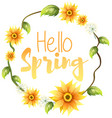 hello spring text banner vector image