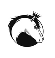 horse with a crown vector image vector image