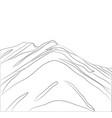 landscape mountains lines vector image vector image