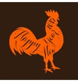 lettering congratulation on rooster s body vector image