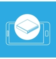 library mobile device education vector image