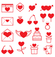 love objects line icons set vector image vector image