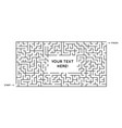 maze on white background text box template vector image