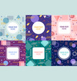 memphis frames retro 90s style abstract banner vector image
