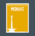 monas jakarta indonesia monument landmark vector image vector image