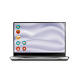 new laptop front and black drawing eps10 vector image vector image