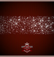 new year background with snowflakes and stars vector image