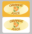 Orange juice poster vector image vector image