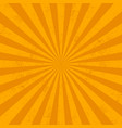 orange rays bqackground grunge effect vector image