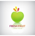 organic food logo fresh fruit vector image vector image