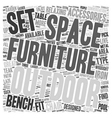 Outdoor Furniture text background wordcloud vector image vector image
