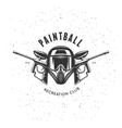 Paintball recreation club emblem vintage vector image vector image