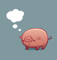 pig with speech bubble vector image vector image
