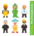 Pixel art style professions set 2 vector image
