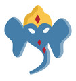 portrait ganesha or color vector image
