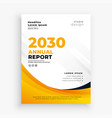 professional yellow annual report business flyer vector image