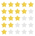 Rating star set vector image vector image