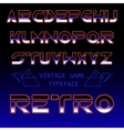 Retro font typeface in futuristic style vector image vector image