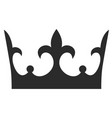 royal crown icon emperor success black silhouette vector image