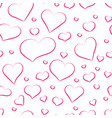 seamless pattern from pink hearts for background vector image vector image