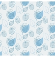 Seamless pattern with appleApplewhiteleaf vector image vector image